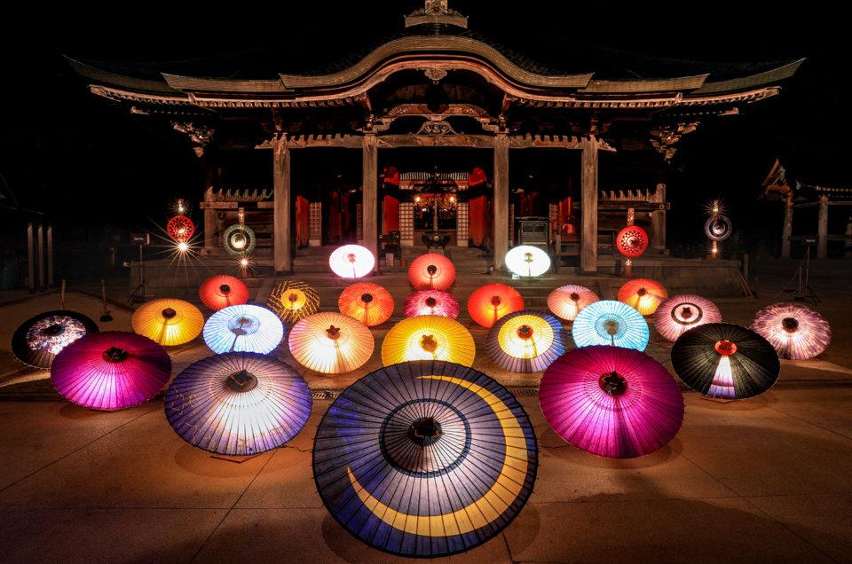 鳥取・大山の風物詩 「お盆の大献灯」